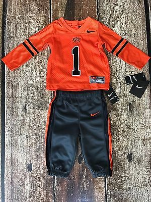 new product a269d cf602 Nike Osu Oklahoma State Cowboys 2 Piece Jersey Pant Set Baby Infant Size 3-6