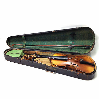 Antique Vintage Full Size VIOLIN in Wooden Case