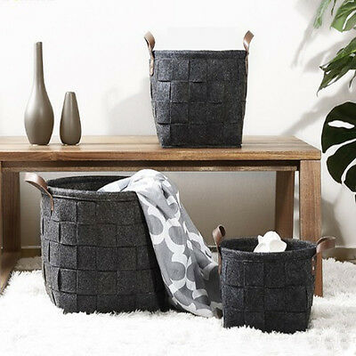 Blanket Cloth Woven Storage Basket Holder Home  Laundry Organizer Bag  AC