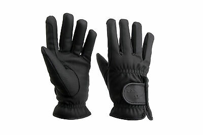 HORKA Serino Lined Thermo Horse Riding Gloves - Black