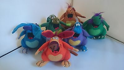 Cadbury Yowies Limited Edition Clip On Plush Complete Set
