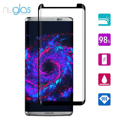 Galaxy S8 Plus NUGLAS 3D Tempered Glass Full Cover Screen Protector For Samsung
