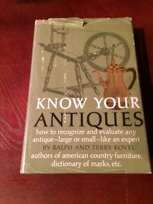 1967 Hardcover BOOK Know Your Antiques by Ralph and Terry Kovel