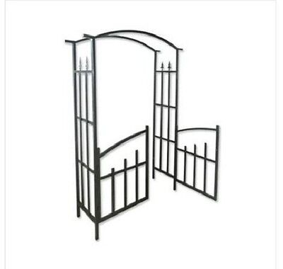 Garden Arches And Arbors With Doors Steel Gate Front Backyard Decor Vines Plant