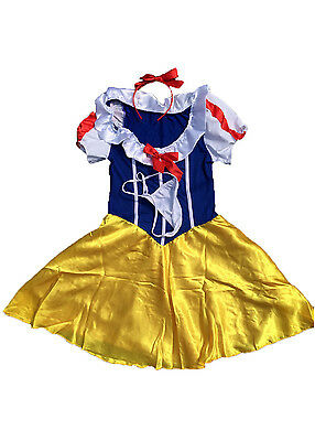 """Adult Womens Cosplay Party Fairy Tale Snow White Princess Dress Costume Bust 35"""""""