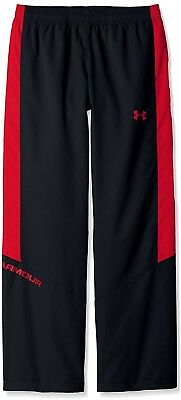 Under Armour Boys Main Enforcer Woven Pants Youth Medium Imported Black Red New