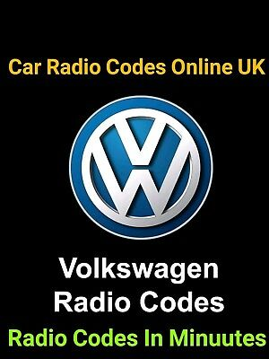 VW Stereo SAFE PIN Code Unlock Decode Service for RNS 315 Navigation & Radio