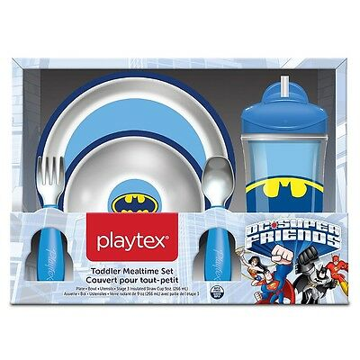 "Playtex Toddler Mealtime Set ""Batman"" - New in Box"
