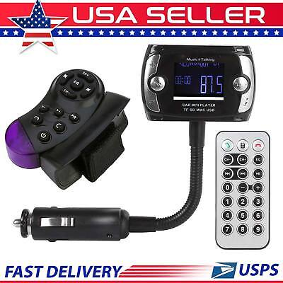 Bluetooth Car FM Transmitter LCD MP3 Player Modulator USB Wireless Remote Kit US