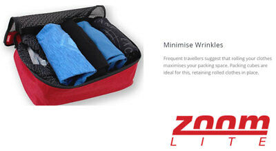 ZOOMLITE Lightweight Travel Packing Cubes Luggage Organiser 5 sizes, washable