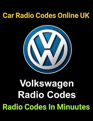 Vw Radio Code Rcd 500 310 300 200 210 215  *** Official***