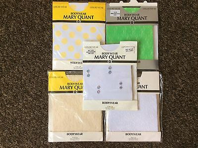 Vintage Bodysuit Lot X 5 Rare Mary Quant Bodystockings in Sealed Packs