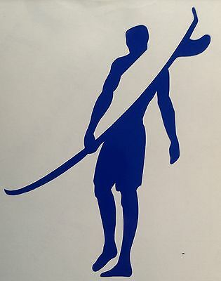 Longboard Surfer Decal Surf Sticker Outdoor Surfing Colour Choice Buy2 Get1 Free