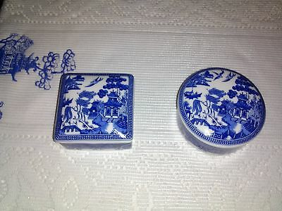 Blue Willow Trinket Dishes With Lids
