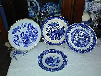 Blue Willow Cake/display Plates, Westminster, Omealton Ware England Etc