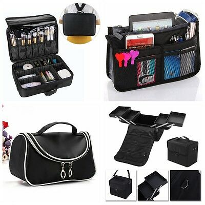 Large Makeup Case Vanity Case Cosmetic Jewelry Nail Storage Beauty Box Carry Bag