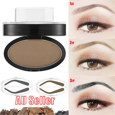 EYEBROW STAMP Powder Palette Natural Definition Brow Makeup Cosmetic Brown  BO