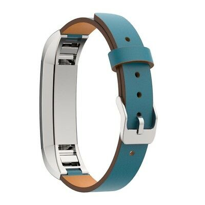 (Blue) - For Fitbit Alta Band , LUNIWEI Replacement Genuine Leather Band Strap B