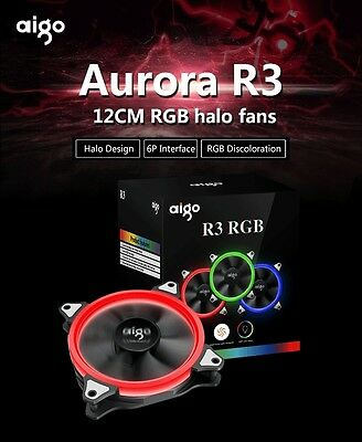 Aigo 12cm RGB Halo Fans 3 PCS set with controller R3