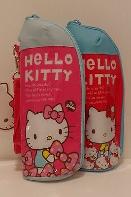 Hello Kitty Kids Girls PET Bottle Case Insulated Cover Holder with Strap Pink