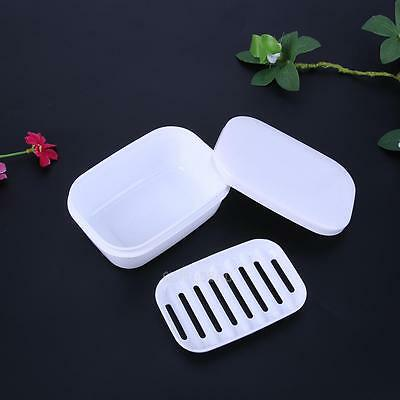 Drain Layer Travel Soap Box with Lid Seal Leak-proof Dish Portable Case #gib