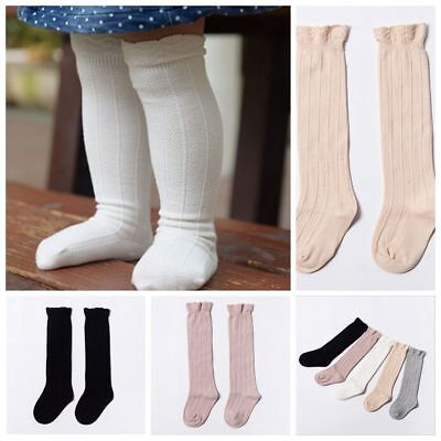 Soft Unisex Baby Toddler Girls Cotton Knee High Socks Tights Leg Warmer Stocking