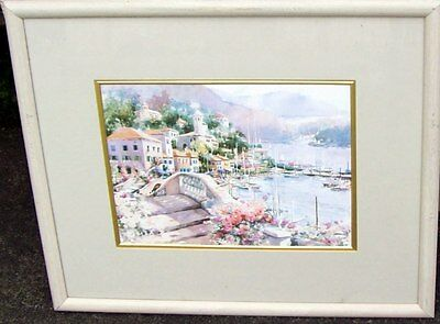 Large beautiful framed art print of a French Landscape by Marilyn Simandle