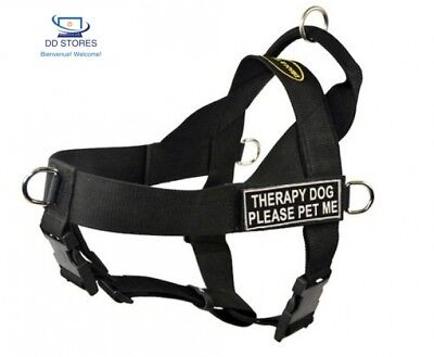 DT Universal No Pull Harnais pour chien, Therapy Dog Please Pet Me