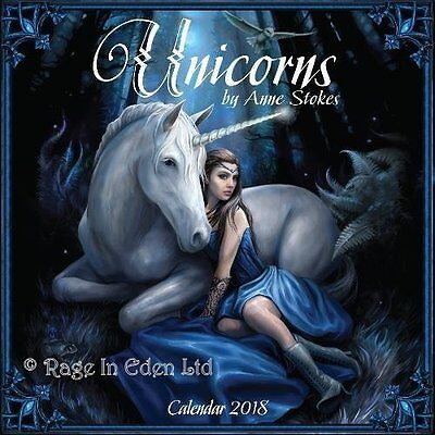 ANNE STOKES UNICORN 2018 WALL CALENDAR 16 Month Calendar Published By Flame Tree
