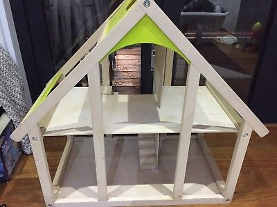 Educo Dolls House Steiner Style With Furniture And Dolls