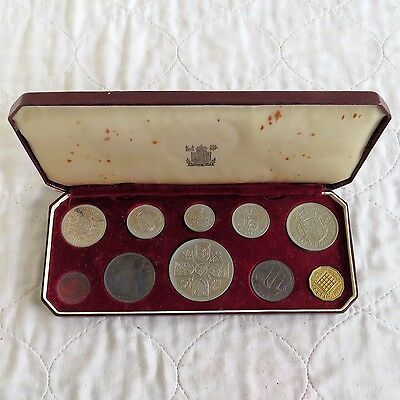 1953 10 Coin Proof Year Set In Original Red Box