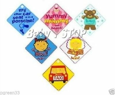 Funky 'Baby on Board' Car Signs Assorted Designs + Free Postage