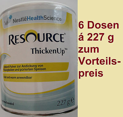 RESOURCE THICKEN UP NEUTRAL 6 Dosen á 227g Andickungsmittel PZN: 7565797