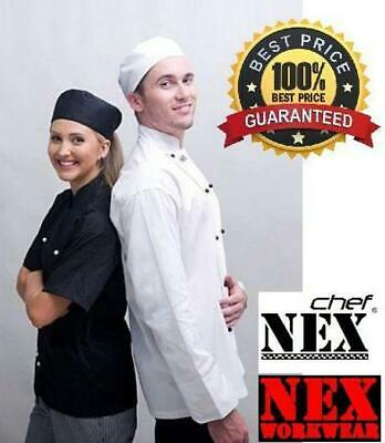 Chef Jacket, Long/Short Sleeve, White/Black, Only $16.50!!! Best Price & Quality