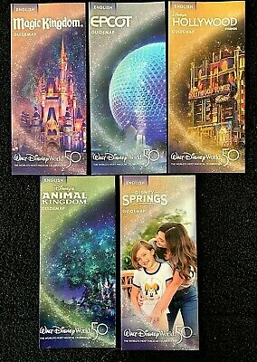 NEW 2019 Walt Disney World Theme Park Guide Maps - 5 Current Maps!! + Bonus !!!