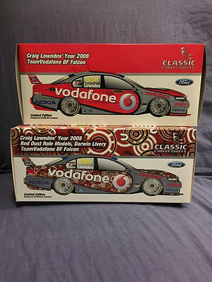 2008 Craig Lowndes BF Fords 'Red Dust' & season 1:18 Models
