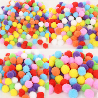 250Stk Fluffy Handmade DIY Pom-Pom Ball Mixed Educational Plush For Kid Children