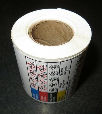 """GHS Labels, OSHA and Haz Com Compliance - 100 per roll, 2"""" x 4"""" - Adhesive"""