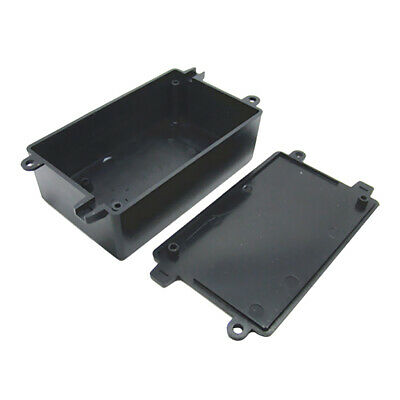 Black ABS Plastic Enclosure Small Project Box For Electronic Circuits 4 Sizes