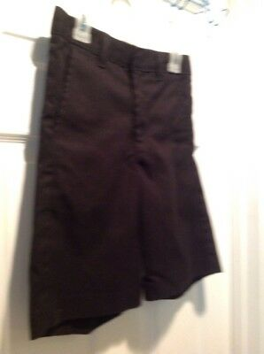 Boys Dickies Black School Uniform Shorts Size 12 Rg/25W