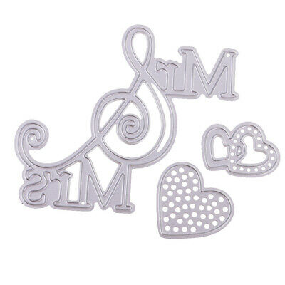 DIY Metal Cutting Dies Stencil Scrapbook Embossing Album Decor Paper Card Crafts