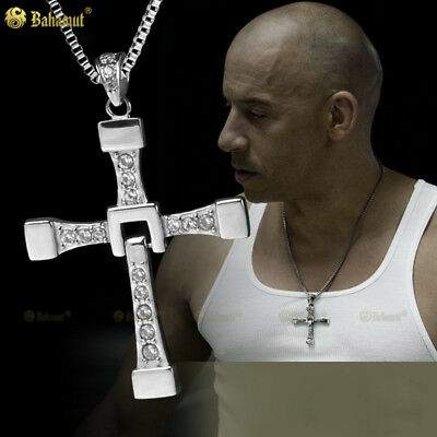 Bahamut  Big size Fast and Furious 7 Dominic Toretto's Cross Necklace Pendant...
