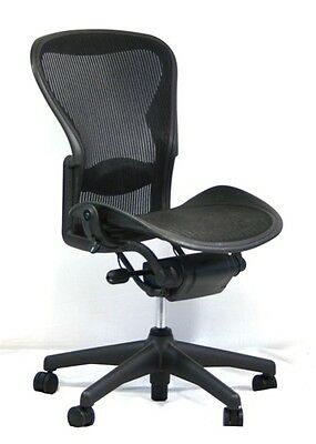 Herman Miller Aeron Mesh Office Desk Chair No Arms Size C Basic with lumbar