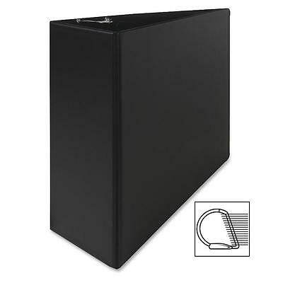 "Sparco Vinyl D-Ring Binder, 4""Capacity, 8-1/2""x11"", Black 07801"