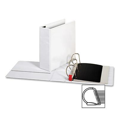 "Sparco Locking D-Ring View Binder,4 ""Capacity,11""x8-1/2"",White 26963"