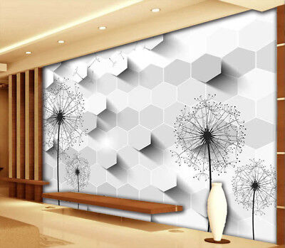 Lily Dandelion 3D Full Wall Mural Photo Wallpaper Printing Home Kids Decoration