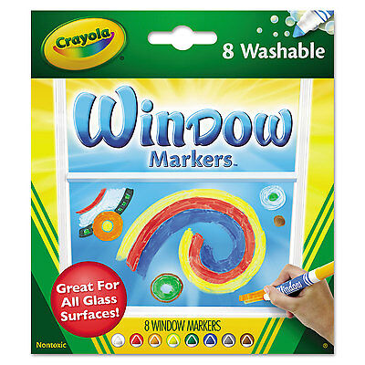 Crayola Washable Window FX Markers Conical Tip Assorted Colors 8/Set 588165
