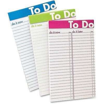"TOPS Products To Do List Notepad 5""x8"" 50Shts Color Rld 6/PK Ast 20002"
