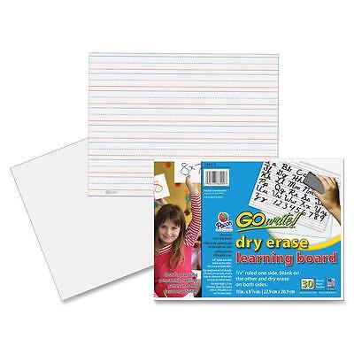 "Pacon Dry Erase learning Boards Ruled 11""x8-1/4"" 30/CT White LB8512"