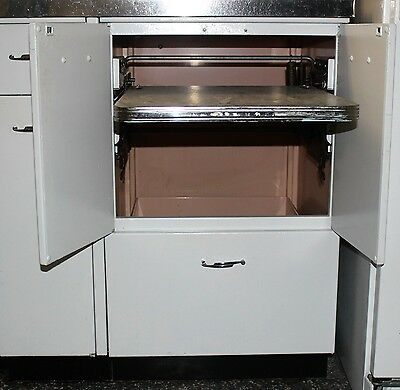 1950 Geneva Metal Kitchen Cabinet with Pop UP Work Station & Drawer